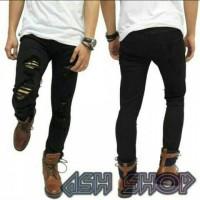 Jual Jeans sobek | skinny jeans hitam | ripped jeans | jeans slim fit Murah