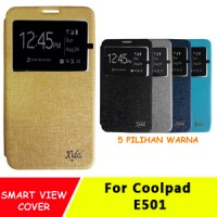 Sarung Flip Cover Case Casing Idol Coolpad E 501 Sky