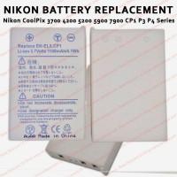 Nikon CoolPix 3700 4200 5200 5900 7900 CP1 P3 P4 Series Baterai EN-E