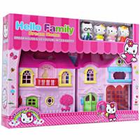 Mainan Anak Hello Kitty Family Dream Home House Figure Set Doll Rumah