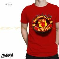 Baju Kaos Tshirt Manchester United Logo | Kaos MU | Baju Kaos 3D