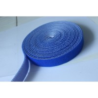 20MM WIDE HOOK AND LOOP TAPE SELF ADHESIVE VELCRO STICKY BLUE (10CM)