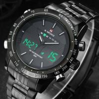 Jual Jam tangan Naviforce dual time rantai stainless water resistant Murah
