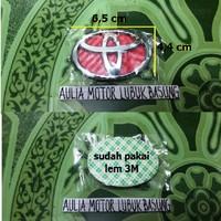 emblem stir merah logo toyota vios innova avanza agya yaris etios rush