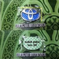 emblem stir biru logo toyota vios innova avanza agya yaris etios rush