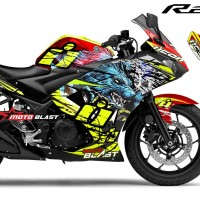 Decal stiker Yamaha R25 Red ICON Thriller
