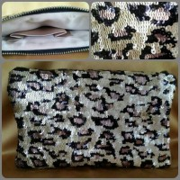 Jual Tas / Pouch / Clutch Pesta Wanita sequin leopard full payet Murah