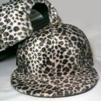 Jual grosir topi snapback leopard full bahan bulu halus terbaru murah Murah