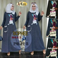 Long Dress Gamis Maxi Dress Muslim SOPHEE MAXI