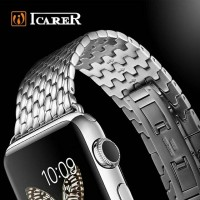 Wristband Strap Jam Belt Band Icarer Stainless Apple Watch 38mm 42mm