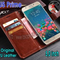 Flip Cover Samsung Galaxy J5 Prime, On5 2016 Leather Case Wallet Card