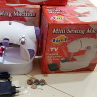 Jual Mesin Jahit Portable ada adaptor ( mini 4in1 benang sewing machine ) Murah