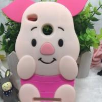 Xiaomi Redmi 3X Silicon 3D kartun Piglet Pink Pig Softcase Hp Lucu