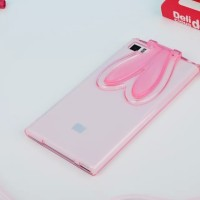 Softcase BUNNY EAR Xiaomi Mi3 / Mi4 Silicone Ultrathin Case HP Casing