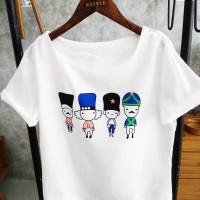 Jual kaos wanita tee tshirt korea jepang sale Murah