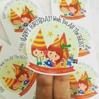 Label Stiker Waterproof: PESTA ULANG TAHUN / BIRTHDAY, UCAPAN, BISNIS