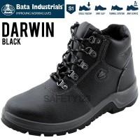 Bata Darwin Black Hitam Sepatu Safety Shoes Industrials Murah