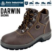 Bata Darwin Brown Cokelat Coklat Sepatu Safety Shoes Industrials Murah