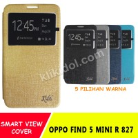 Sarung Flip Cover Case Casing Idol Oppo Find 5 Mini R 827