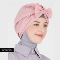 Jual Turban Pita/Bow Turban instant polos/motif by TOP DIM (Harga termurah) Murah