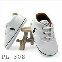Sepatu Prewalker Polo White Leather