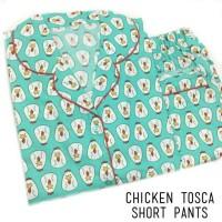 Piyama Dewasa|Chicken Tosca Short Pants Pajamas|Baju Tidur Katun