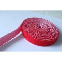 20MM WIDE HOOK AND LOOP TAPE SELF ADHESIVE VELCRO STICKY RED (10CM)