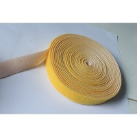 20MM WIDE HOOK AND LOOP TAPE SELF ADHESIVE VELCRO STICKY YELLOW (10CM)