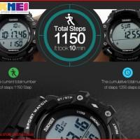 CASIO Big Dial SKMEI Pedometer 3D Jam Tangan Digital