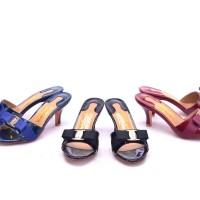 Sandal Salvatore Ferragamo Glory Bow Slide Patent
