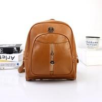 Tas Cantik Wanita Ransel Import Bag Backpack Khaki Murah Kuliah Anak
