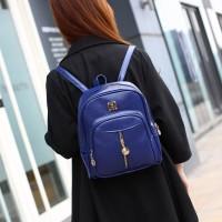 Tas Ransel Wanita Import Formal Kuliah Sekolah Anak Blue Cantik Murah