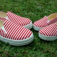 harga Sepatu Couple Mom And Kid Merah Stripe Tokopedia.com