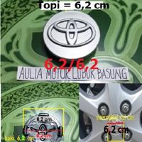 Harga dop roda velg toyota silver diameter 6 2 untuk innova dan lainnya 1pc | WIKIPRICE INDONESIA