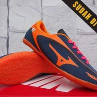 Sepatu Futsal Kids-Soccer-Mizuno Samurai Speed Hitam Orange Anak