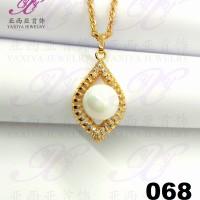 Yaxiya (anting gelang kalung) liontin perhiasan imitasi gold 18k 068