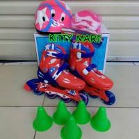 mainan anak sepatu roda helm decker pelindung lutut inline skate power