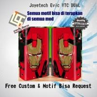 Garskin Vapor Evic VTC DUAL Motif Ironman, Motif Bisa Custom