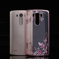 TPU Flower Xiaomi Redmi 4 Prime Silicone Diamond Soft Case Chrome HP