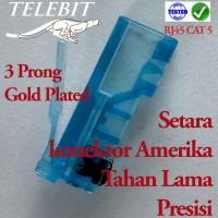 Konektor RJ45 GOLD PLATED UTP CAT 5E TELEBIT