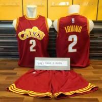 Jersey Basket Nba Cleveland Cavaliers Cavs Kyrie Irving Merah Maroon