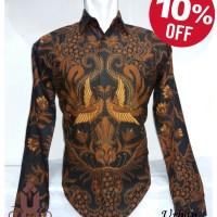 Jual Baju Batik Pria Lengan Panjang Motif Terbaru (Urban Kharisya 009) Murah
