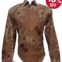 Jual Baju Batik Pria Lengan Panjang Motif Terbaru (Urban Kharisya 022) Murah