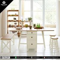 BEBAS ONGKIR Furniture Kayu meja makan lipat jati jepara 12