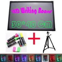 Nagada LED Writing Board - Papan tulis LED -Papan Iklan -1 Set 30x40cm