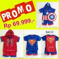 Jual PROMO!! BAJU SPIDERMAN SUPERMAN CAPTAIN AMERIKA- STELAN SUPERHERO ANAK Murah