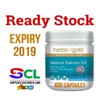 harga Herbs Of Gold Natural Salmon Oil 400 Capsules - Minyak Ikan Omega 3 Tokopedia.com