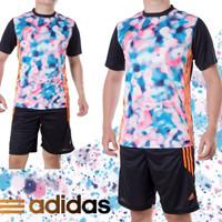 Setelan Futsal / Jersey Futsal / Jersey Bola adidas Flowers #Motif2