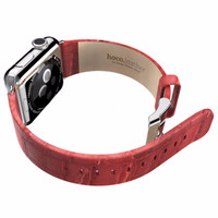 HOT STUFF! Hoco Bamboo Texture Leather Band for Apple Watch 42mm - Red