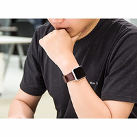 HOT STUFF! Hoco Bamboo Texture Leather Band for Apple Watch 42mm - Bro